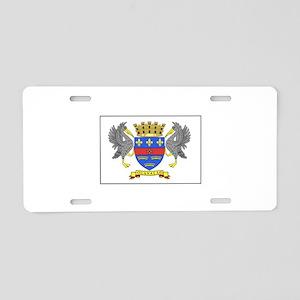 Saint Barthelemy Flag Aluminum License Plate