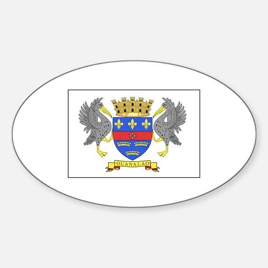 Saint Barthelemy Flag Decal