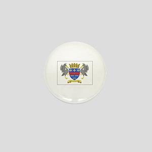 Saint Barthelemy Flag Mini Button