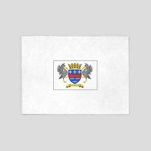 Saint Barthelemy Flag 5'x7'Area Rug