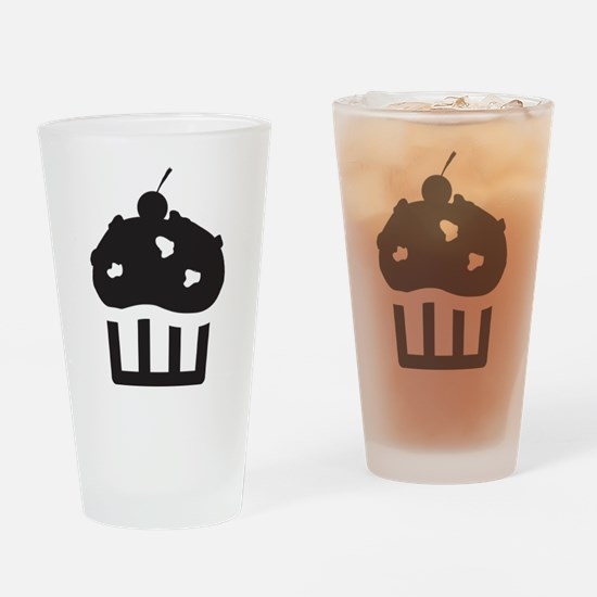 Cupcake Drinking Glass