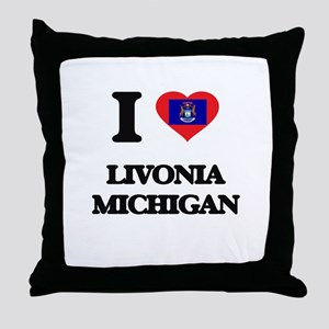 I love Livonia Michigan Throw Pillow