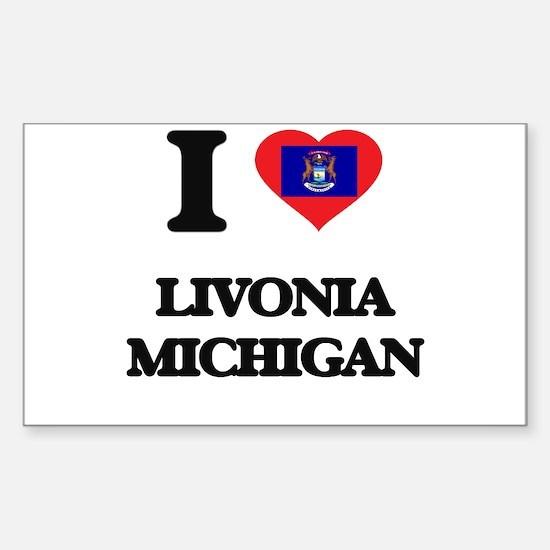 I love Livonia Michigan Decal