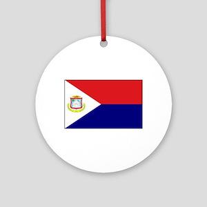 Saint Martin Flag Ornament (Round)