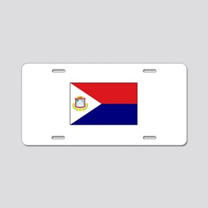 Saint Martin Flag Aluminum License Plate