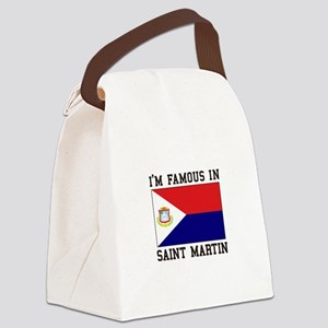 Famous In Saint Martin Canvas Lunch Bag