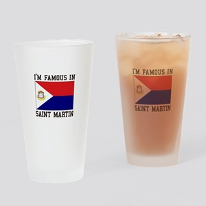 Famous In Saint Martin Drinking Glass