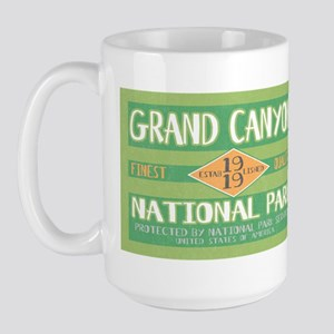Grand Canyon National Park (Retro) Large Mug