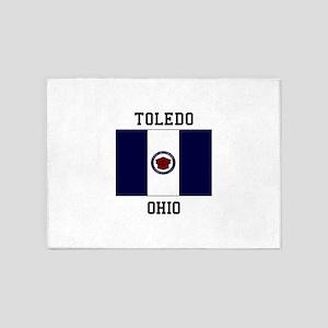Toledo, Ohio USA 5'x7'Area Rug