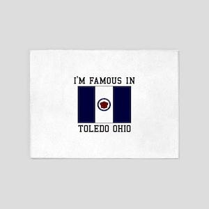 I'M Famous in Toledo Ohio 5'x7'Area Rug