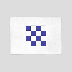 """ICS Flag Letter """"N"""" 5'x7'Area Rug"""