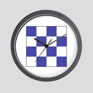 "ICS Flag Letter ""N"" Wall Clock"