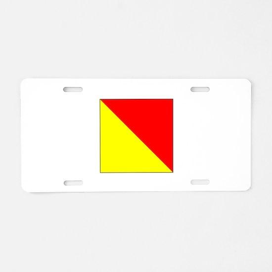 "ICS Flag Letter ""O"" Aluminum License Pla"
