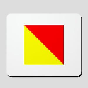 """ICS Flag Letter """"O"""" Mousepad"""