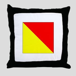 "ICS Flag Letter ""O"" Throw Pillow"