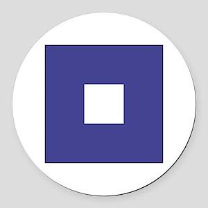 "ICS Flag Letter ""P"" Round Car Magnet"