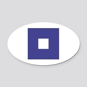 "ICS Flag Letter ""P"" Oval Car Magnet"