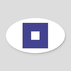 """ICS Flag Letter """"P"""" Oval Car Magnet"""