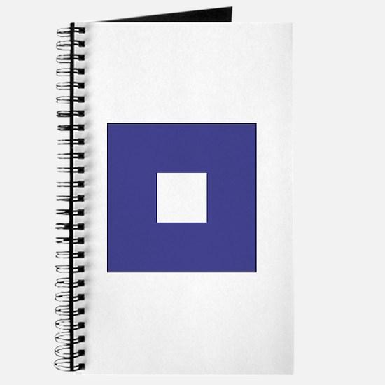 """ICS Flag Letter """"P"""" Journal"""