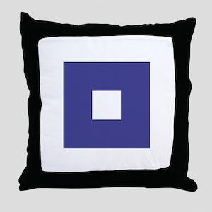 "ICS Flag Letter ""P"" Throw Pillow"
