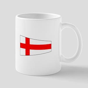 """Pennat Flag Number """"8"""" Mugs"""