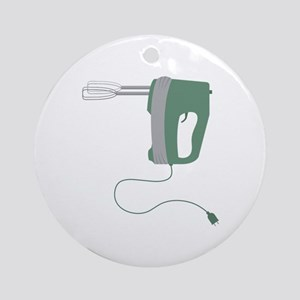 Hand Mixer Ornament (Round)