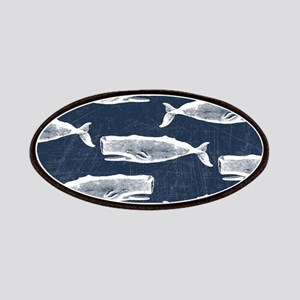 Vintage Whale Pattern White Patch