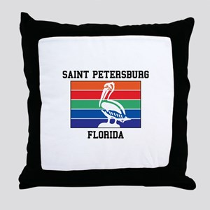 Saint Petersburg Throw Pillow