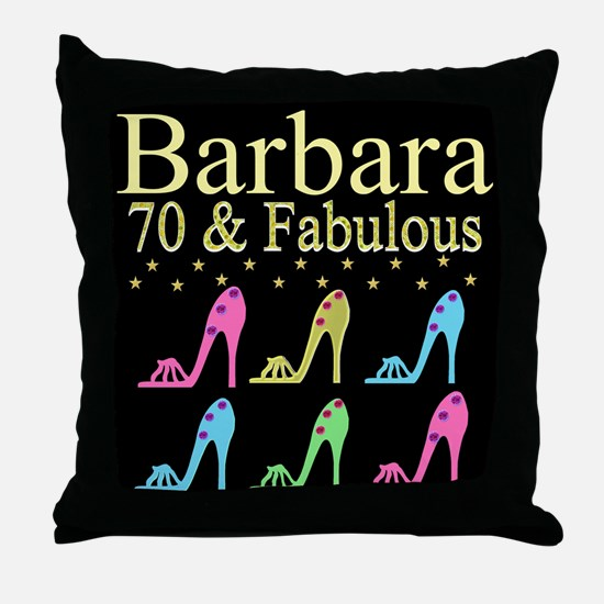 GORGEOUS 70TH Throw Pillow