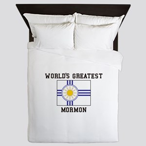 World's Greatest Mormon Queen Duvet