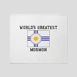 World's Greatest Mormon Throw Blanket