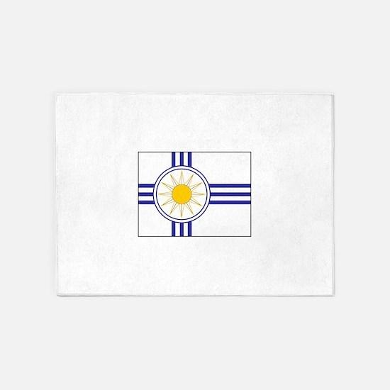 Mormon Flag 5'x7'Area Rug