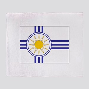 Mormon Flag Throw Blanket
