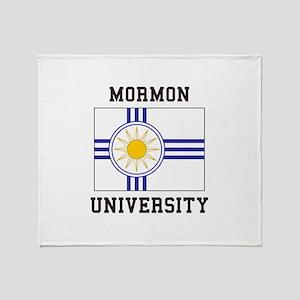Mormon University Throw Blanket