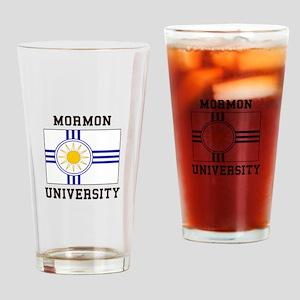 Mormon University Drinking Glass