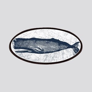 Vintage Whale Dark Blue Patch