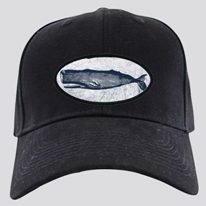 Vintage Whale Dark Blue Black Cap