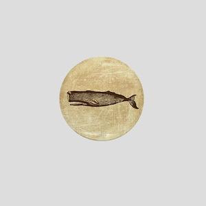 Vintage Whale Brown Mini Button