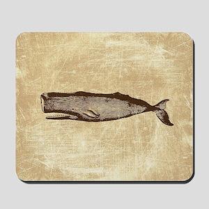 Vintage Whale Brown Mousepad