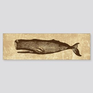 Vintage Whale Brown Sticker (Bumper)