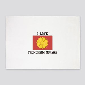 I Love Trondheim Norway 5'x7'Area Rug