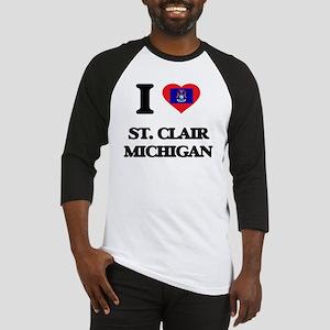 I love St. Clair Michigan Baseball Jersey