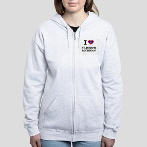 I love St. Joseph Michigan Women's Zip Hoodie