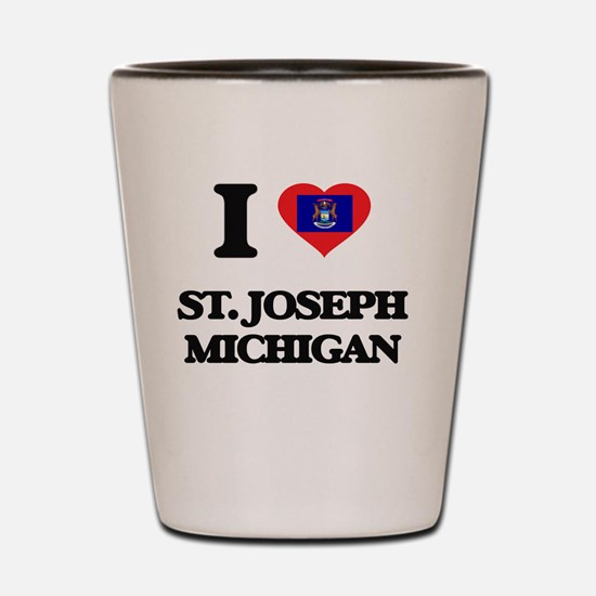 I love St. Joseph Michigan Shot Glass