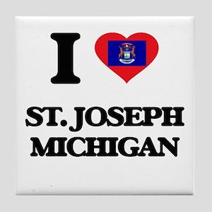 I love St. Joseph Michigan Tile Coaster