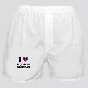 I love St. Joseph Michigan Boxer Shorts