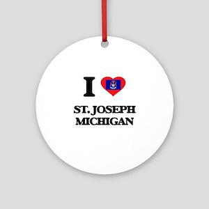 I love St. Joseph Michigan Ornament (Round)