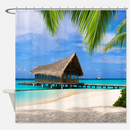 Beach And Bungalow Shower Curtain
