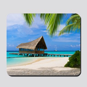 Beach And Bungalow Mousepad