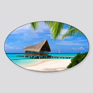 Beach And Bungalow Sticker